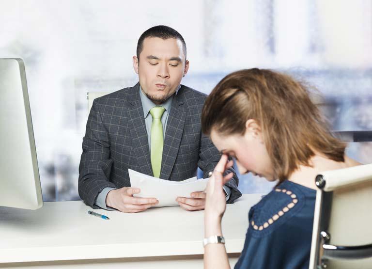 Awkward job interview